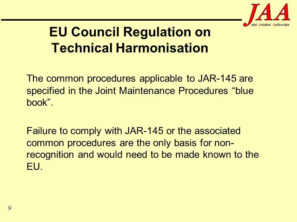 20 ointAviationAuthorities Joint Aviation Requirements (JARs) Section 1 –Requirements Section 2 –Acceptable Means of Compliance (AMC) –Interpretative / Explanatory Material (IEM)