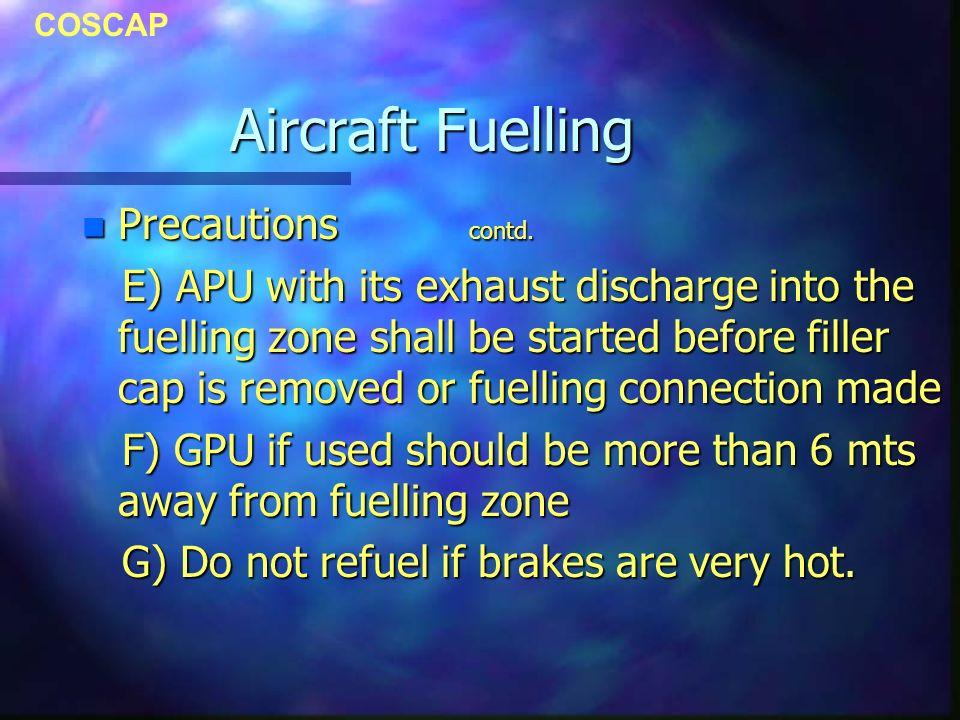 COSCAP Aircraft Fuelling n Precautions contd.