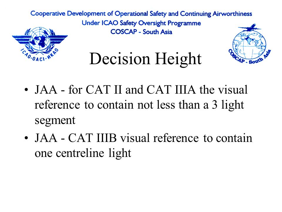 Air Operator Approval Flight Crew Procedures Failures - Continue/Revert/Go Around –> 1000 Continue with higher DH if conditions met –< 1000 Go around and reassessment –Below AH go around required for autoland warning Abnormal Procedures –Provided in AFM –Simplified procedures found in FCOM