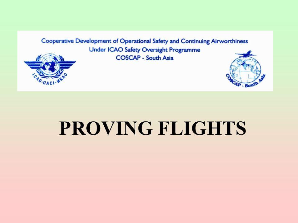 PROVING FLIGHTS