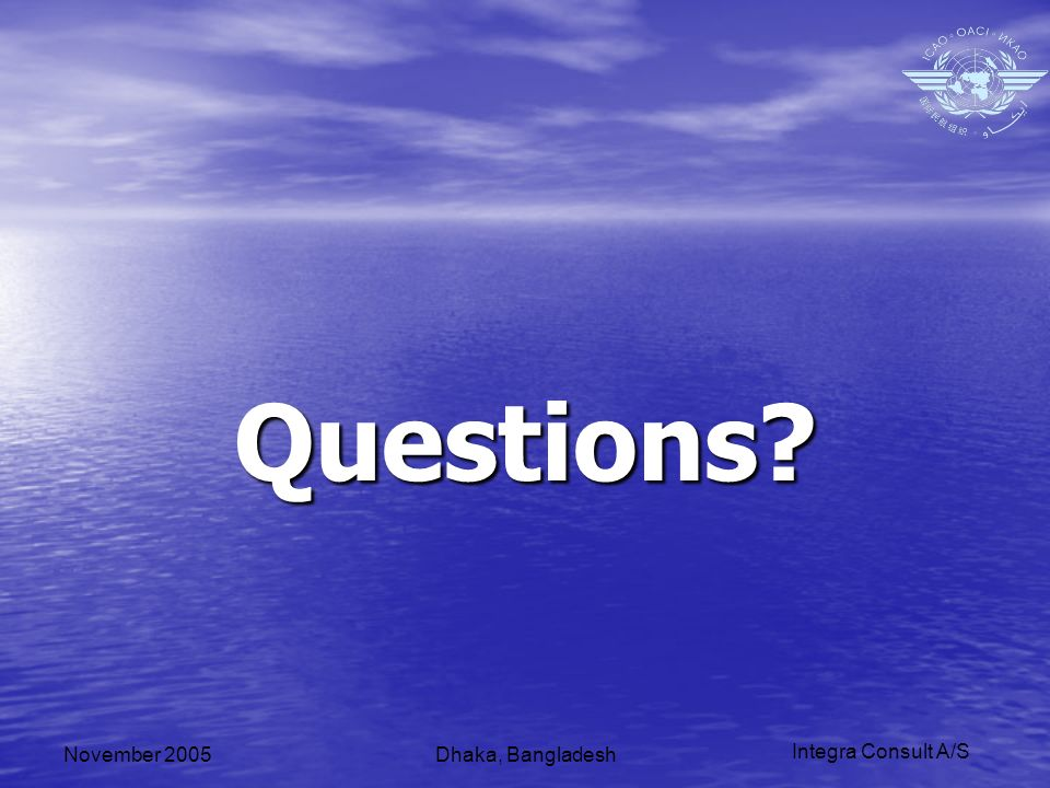 Integra Consult A/S November 2005Dhaka, Bangladesh Questions