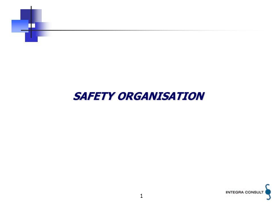 1 SAFETY ORGANISATION
