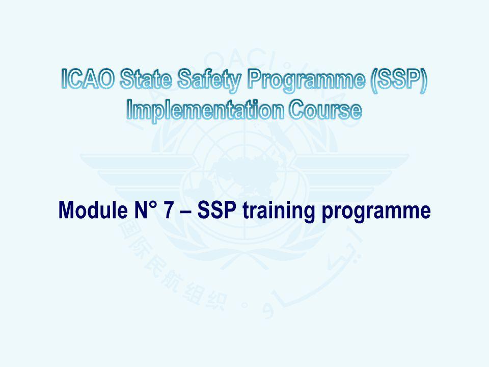 Module N° 7 – SSP training programme