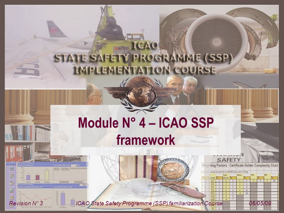 Module N° 4 – ICAO SSP framework Revision N° 3ICAO State Safety Programme (SSP) familiarization Course06/05/09