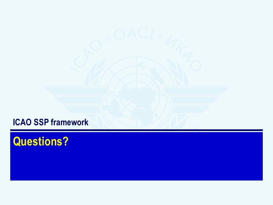 Questions? ICAO SSP framework