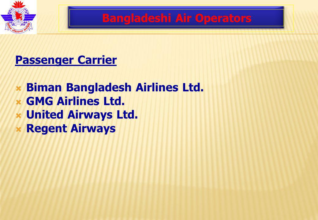 Bangladeshi Air Operators Passenger Carrier Biman Bangladesh Airlines Ltd.