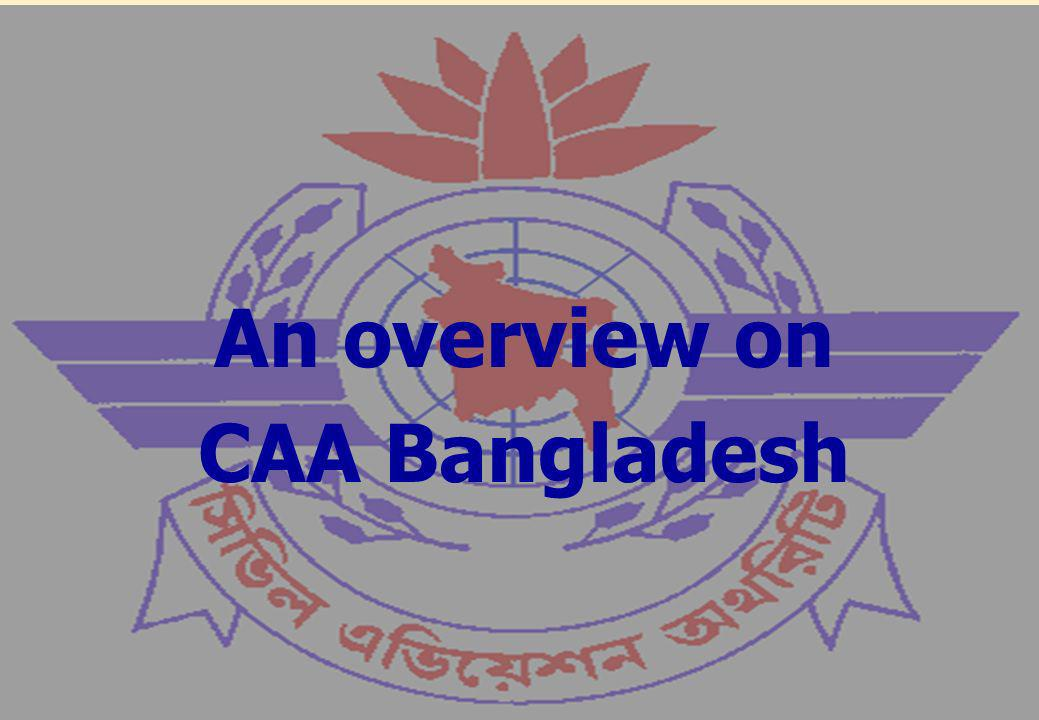 Introduction to CAA Bangladesh Magnitude of Aviation Industry Critical Elements Pending Issues Sequence