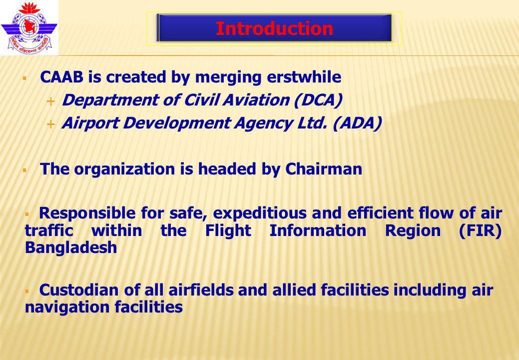 Airports Three International : Hazrat Shah Jalal International - Dhaka Hazrat Shah Amanat International - Chittagong Osmani International - Sylhet Plus : Five Domestic Airports * One domestic airport has been planned to upgrade for international operation.