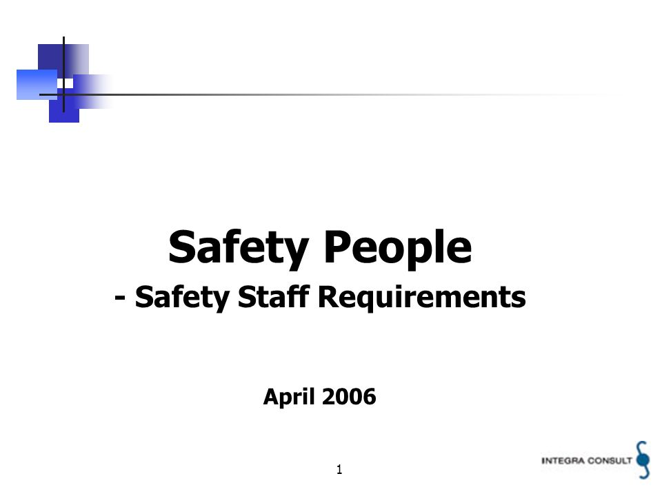 2 Objective The objective of this presentation to give an overview of the different staff members working with Safety Management in a State.