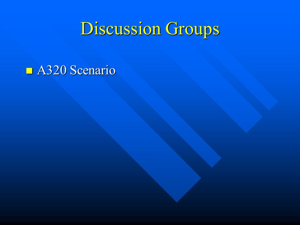 Discussion Groups n A320 Scenario