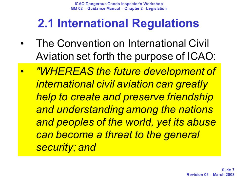 2.1 International Regulations A1 This commodity may be transported on passenger aircraft only with the prior approval of the appropriate authority of the State of Origin under the written conditions established by that authority.