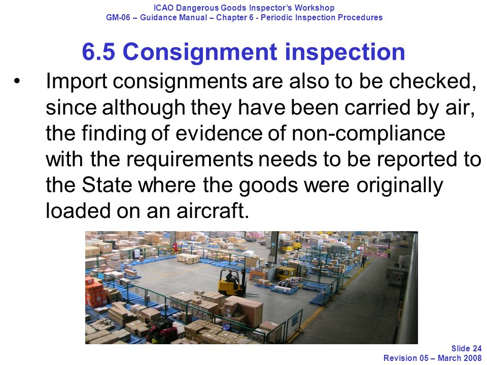 Import consignments are also to be checked, since although they have been carried by air, the finding of evidence of non-compliance with the requireme