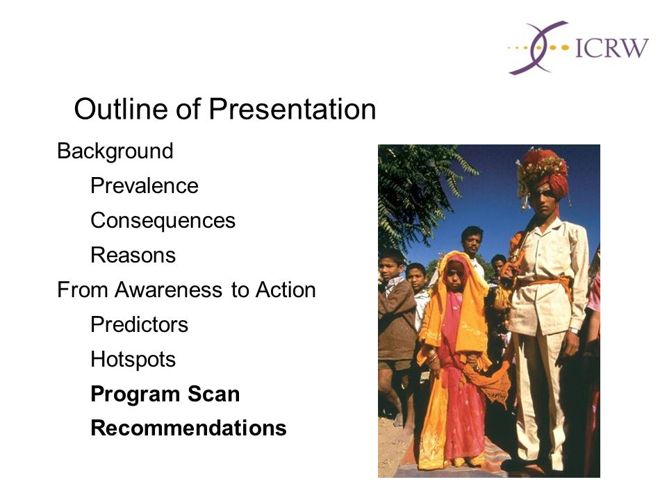 Outline of Presentation Background Prevalence Consequences Reasons From Awareness to Action Predictors Hotspots Program Scan Recommendations
