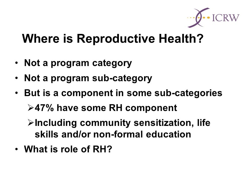 Where is Reproductive Health.