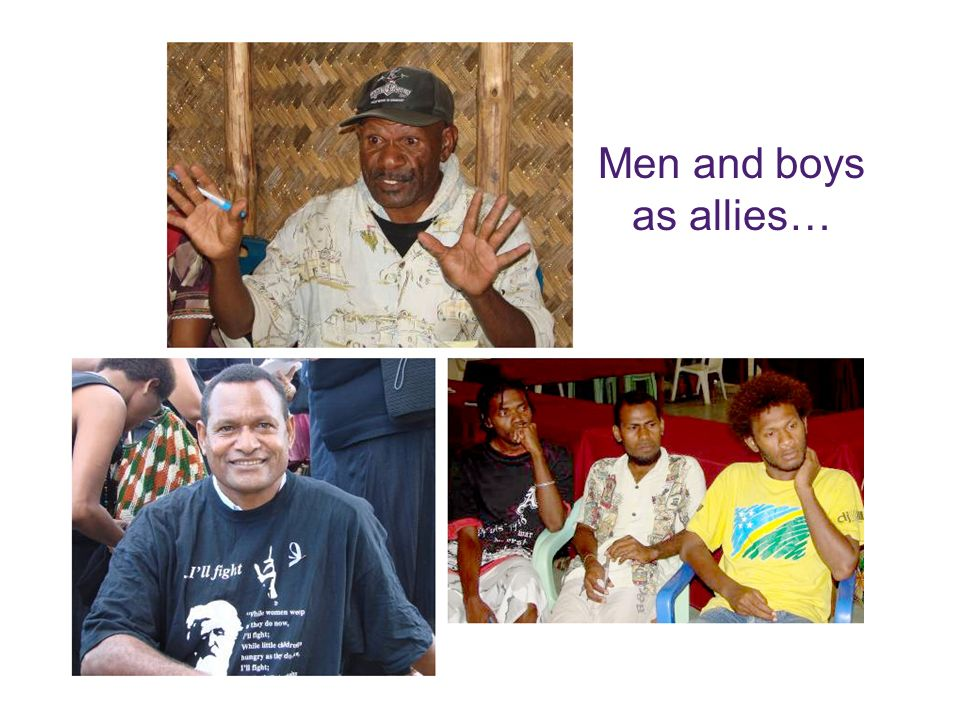 Men and boys as allies…
