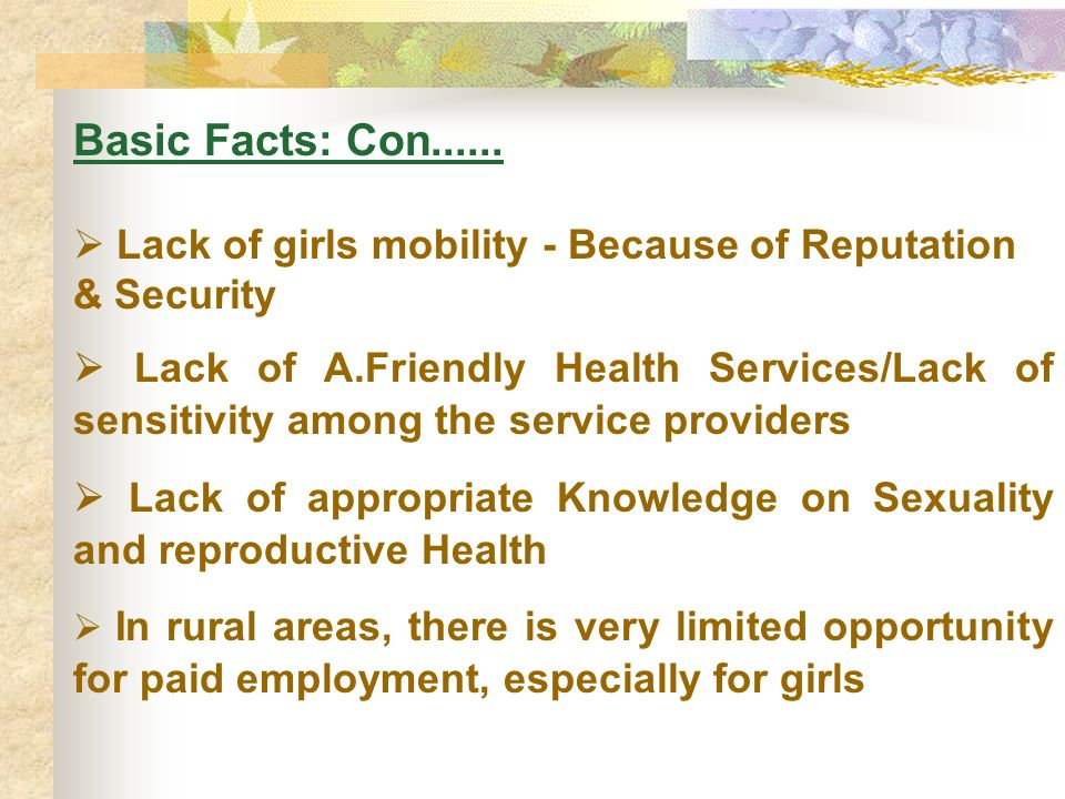 Basic Facts: Con......