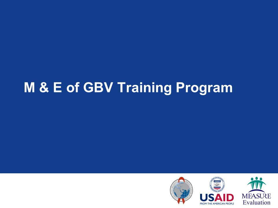 M & E of GBV Training Program