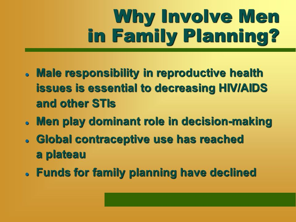 Why Involve Men in Family Planning.