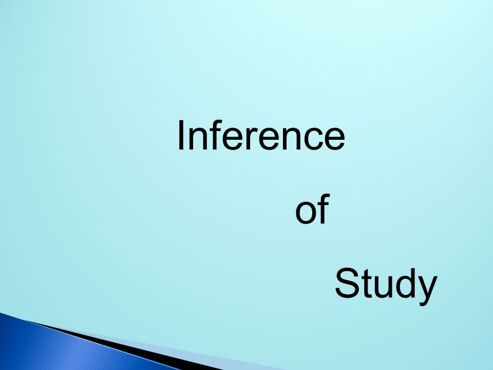 Inference of Study