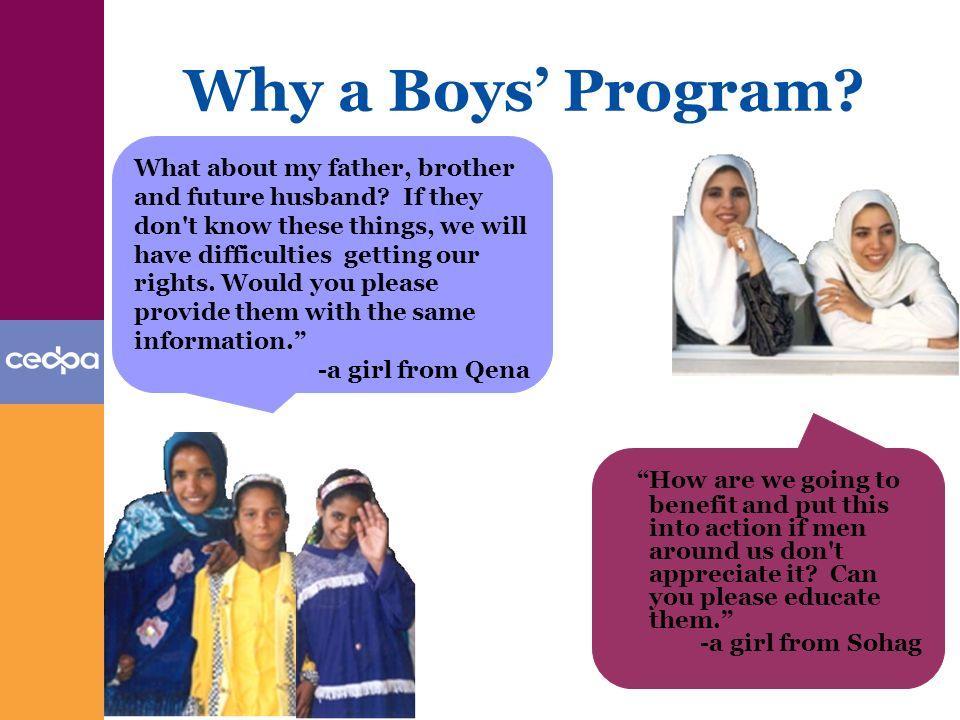 Why a Boys Program.