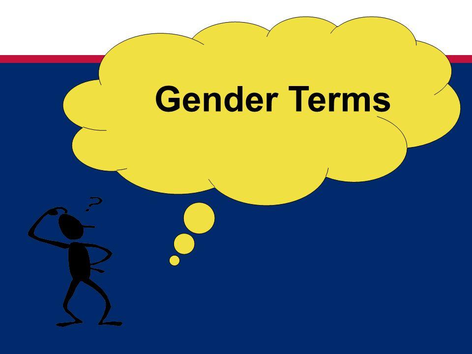 Gender Terms
