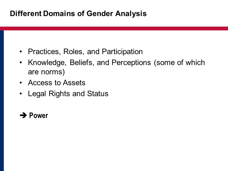 What are the Different Constraints and Opportunities Faced by Women and Men? How do gender relations (in different domains of activity) affect the ach