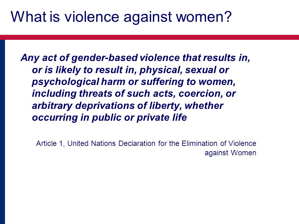 Consequences of husbands act Percentage of women who have ever experienced specific consequences of violence