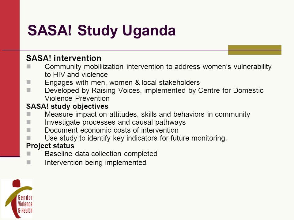 SASA. Study Uganda SASA.