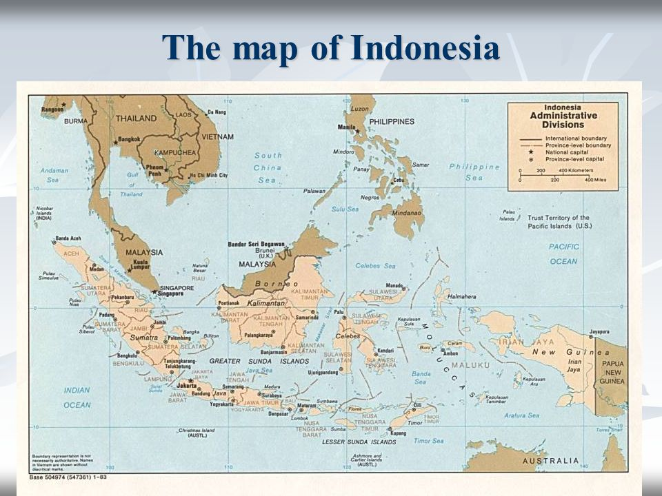 The map of Indonesia