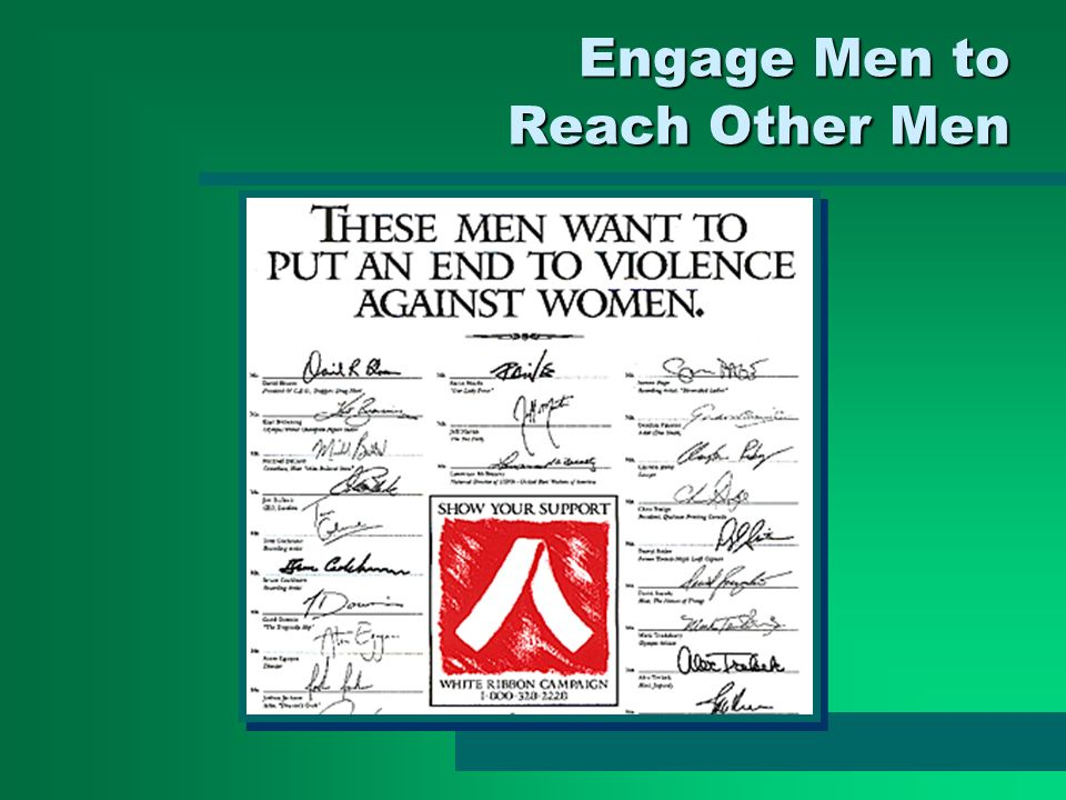 Engage Men to Reach Other Men