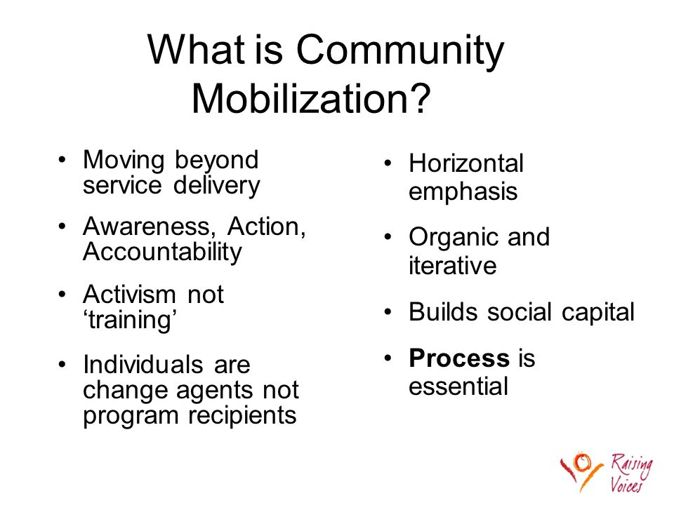 What is Community Mobilization.
