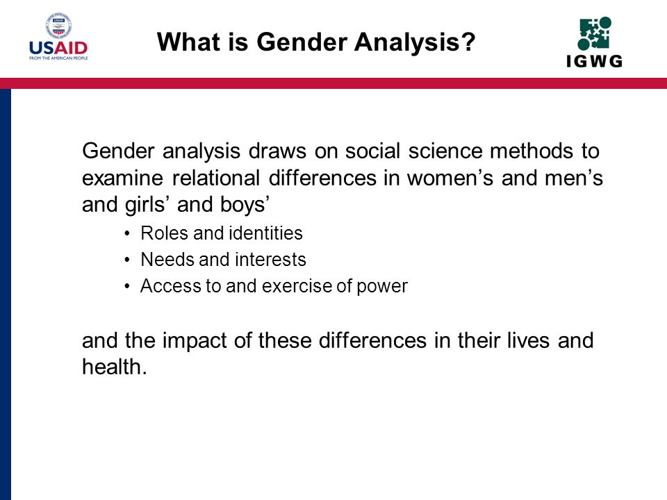 How does Gender Analysis Help Us Design and Manage Better Health Programs.