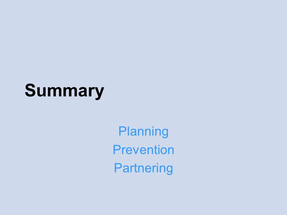Summary Planning Prevention Partnering