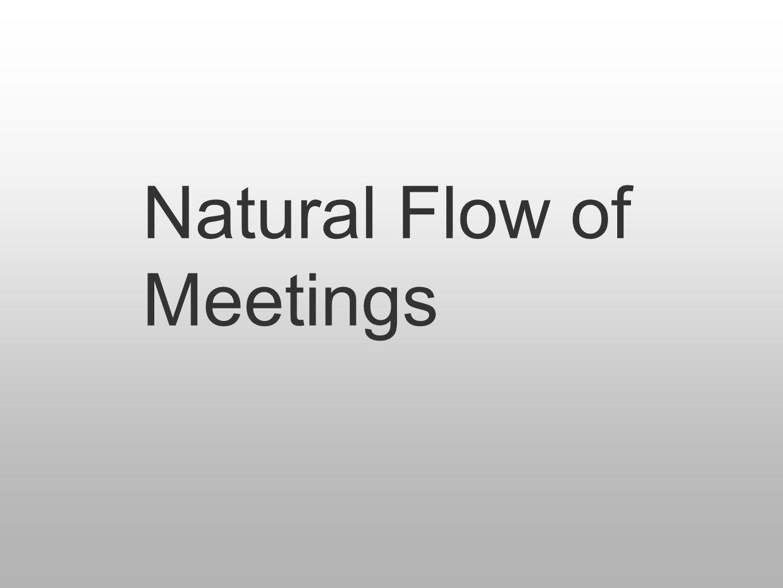 Natural Flow of Meetings