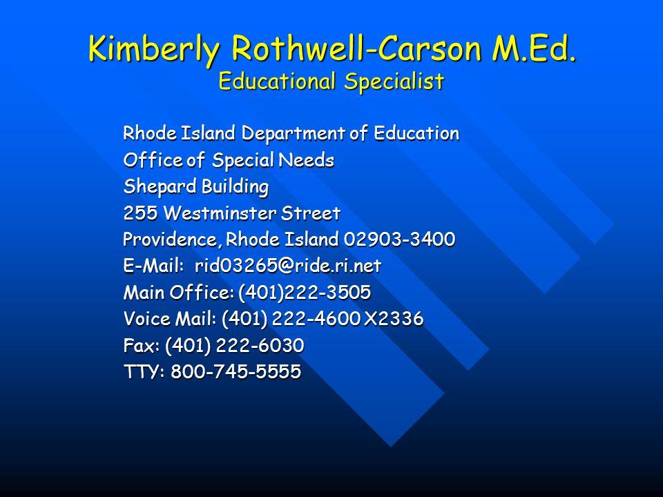 Kimberly Rothwell-Carson M.Ed.