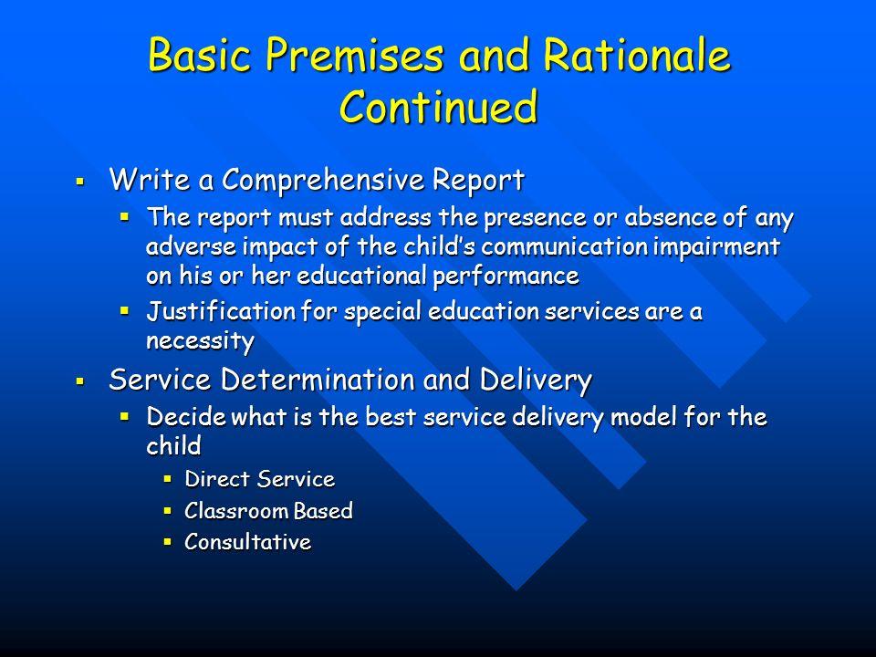 Main Areas Preschool Referral Preschool Referral School Age Referral School Age Referral Special Populations Special Populations
