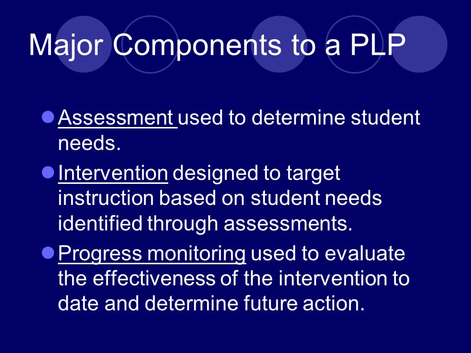 Screening results should indicate which students are not reading proficiently. Then …