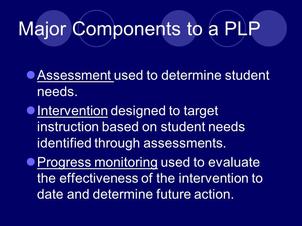 Outcome measures to determine proficiency.