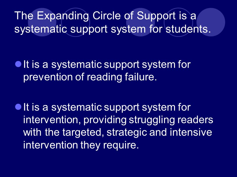 Schools, not just programs Intervention must occur at the school level.