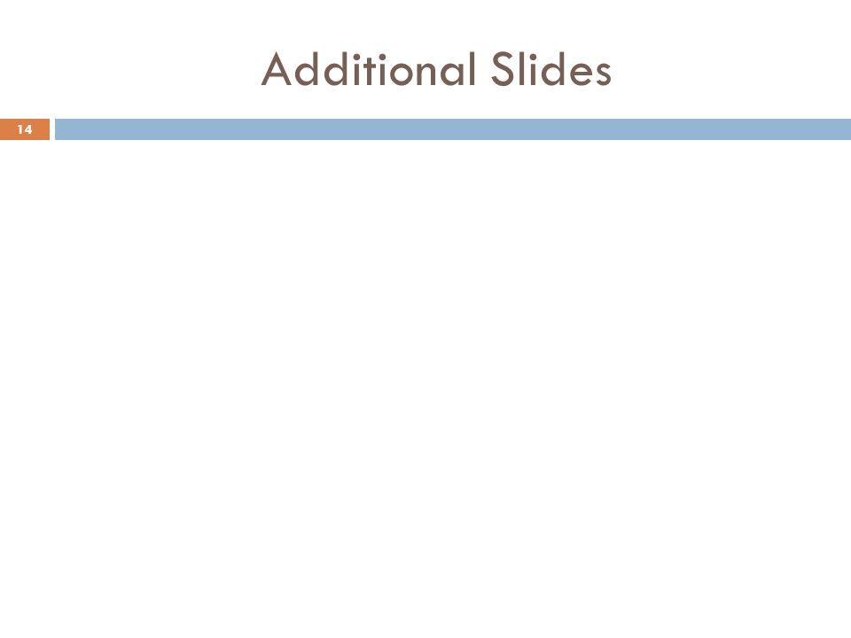 Additional Slides 14