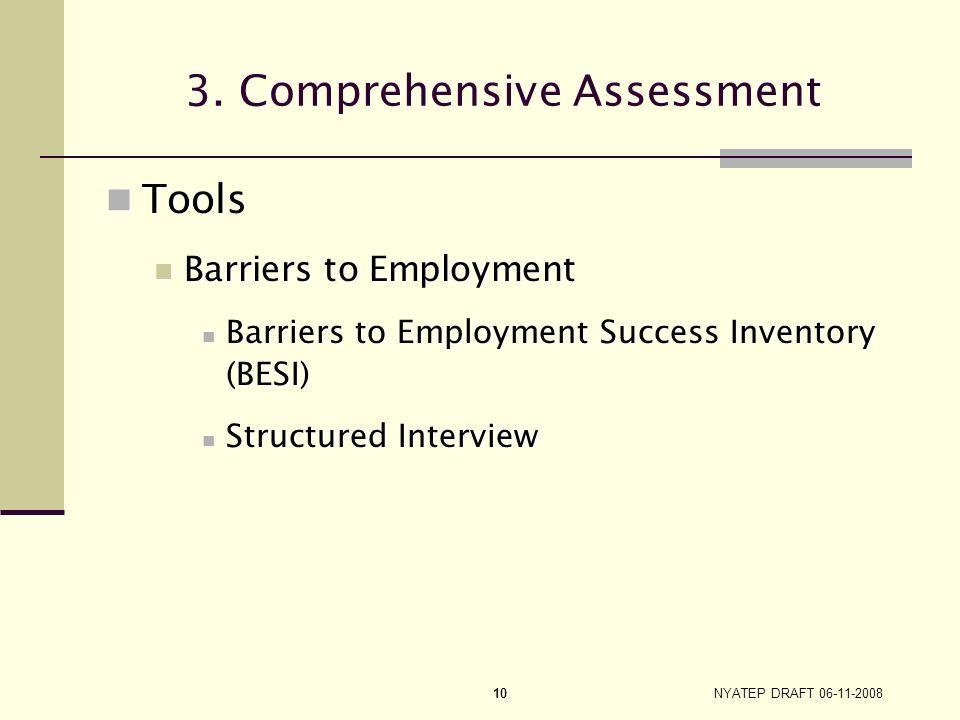 NYATEP DRAFT 06-11-2008 9 3. Comprehensive Assessment On-site On-site Face to face Face to face In-depth and objective understanding of customer In-de