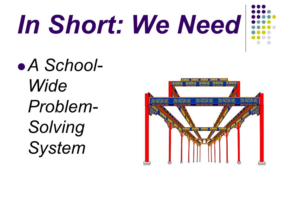 In Short: We Need A School- Wide Problem- Solving System