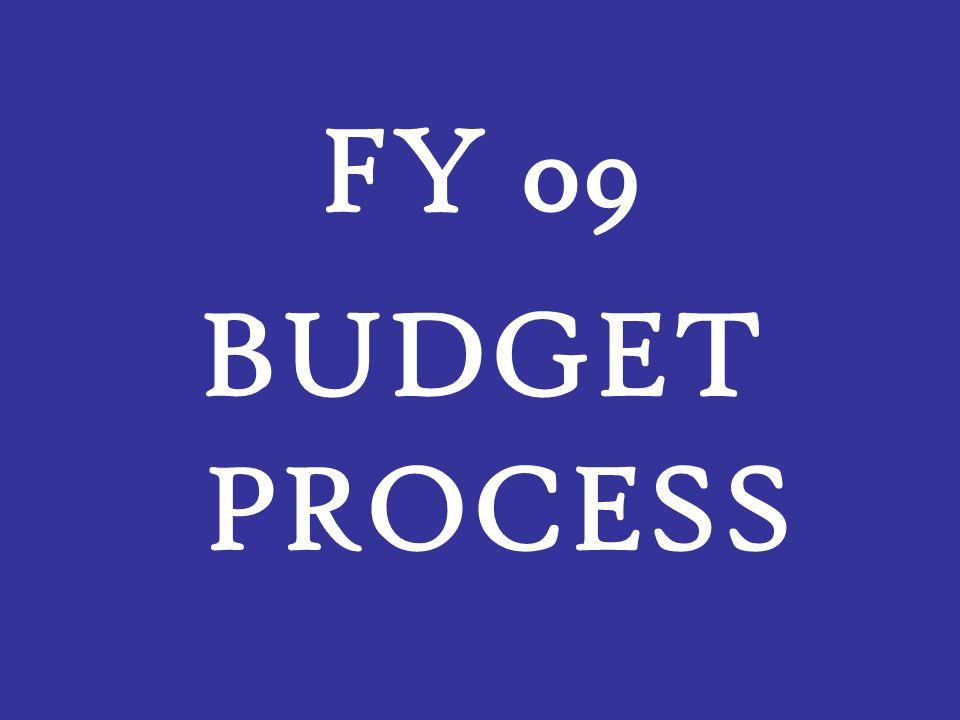 FY 09 BUDGET PROCESS