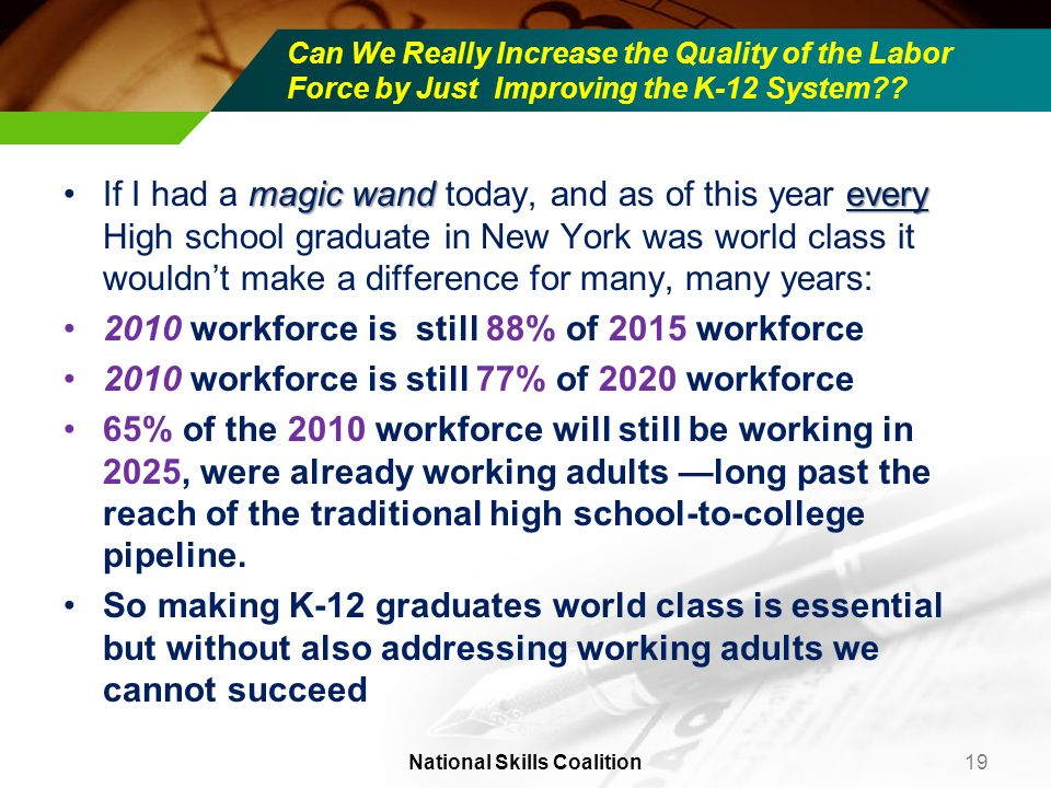 Can We Really Increase the Quality of the Labor Force by Just Improving the K-12 System?? magic wand everyIf I had a magic wand today, and as of this