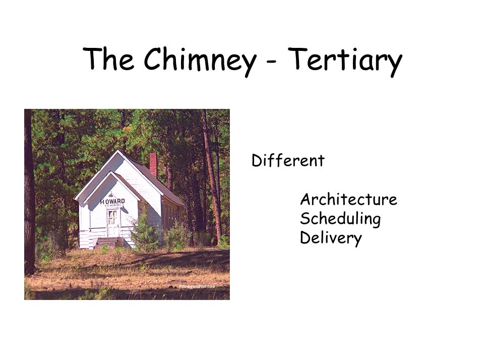 The Chimney - Tertiary Different Architecture Scheduling Delivery