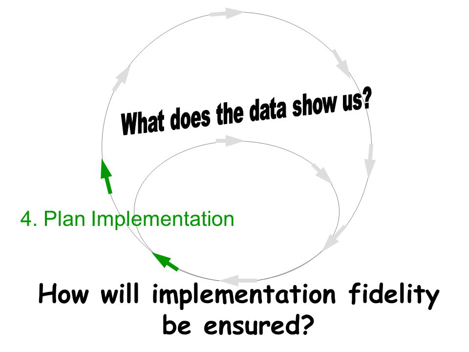 How will implementation fidelity be ensured 4. Plan Implementation
