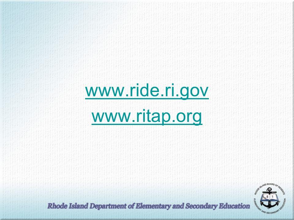 www.ride.ri.gov www.ritap.org