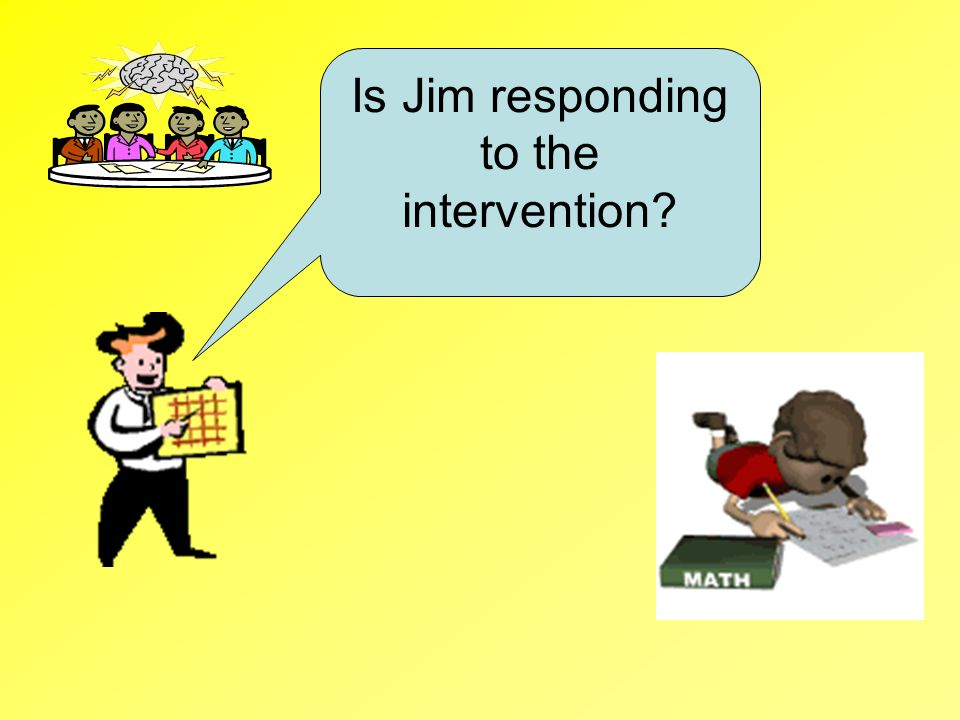 Is Jim responding to the intervention?