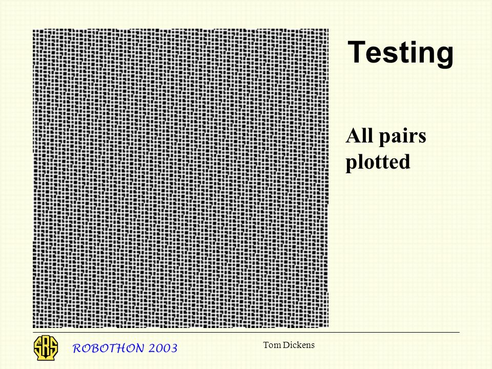 Tom Dickens Testing All pairs plotted