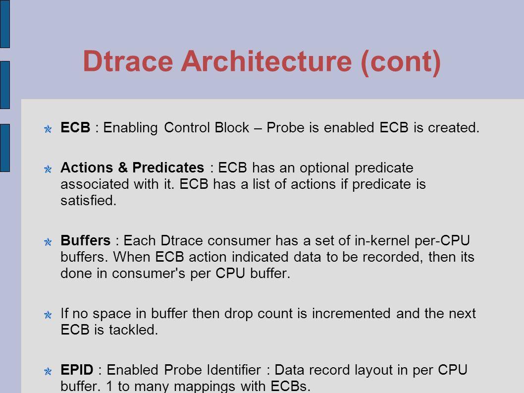 Dtrace Architecture